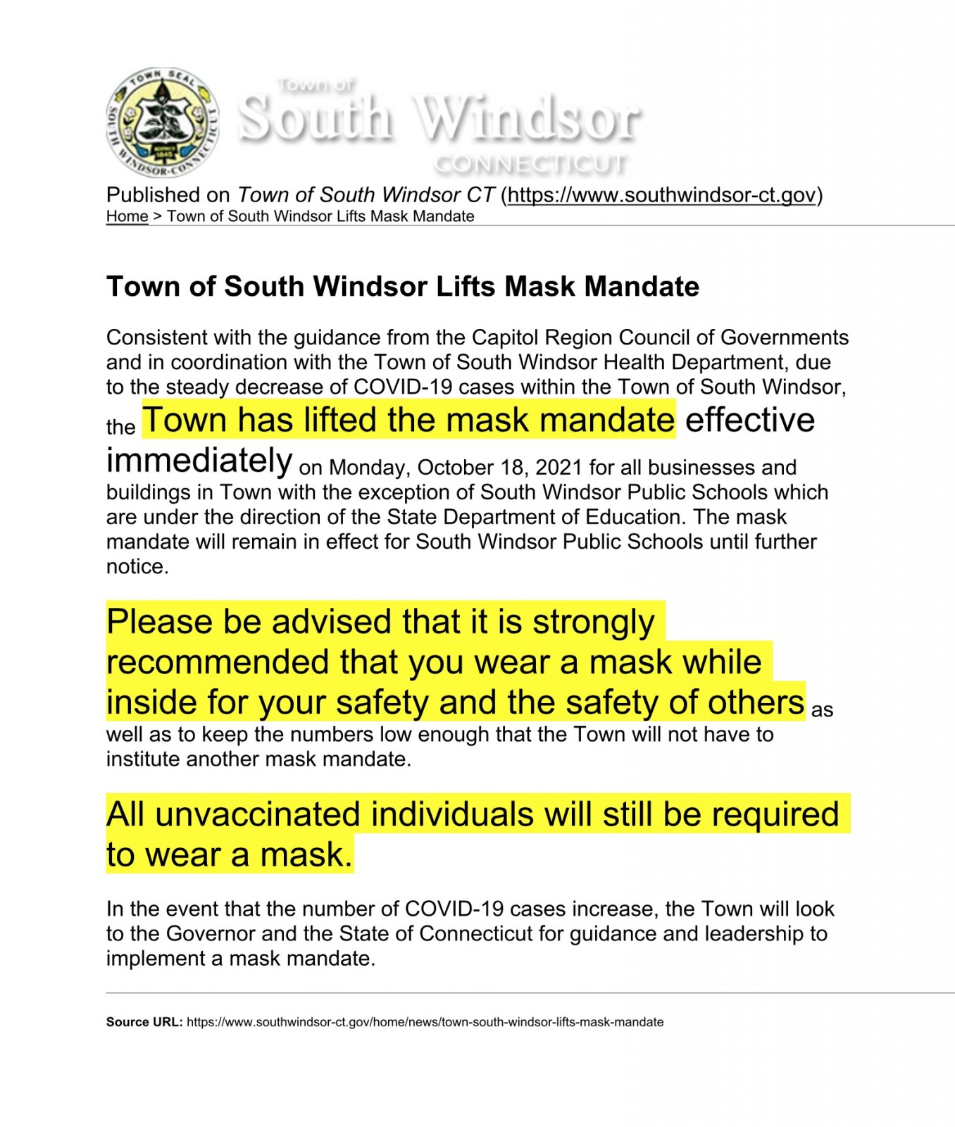Mask update SW Oct 18, 2021